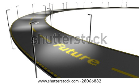 Street - future - stock photo