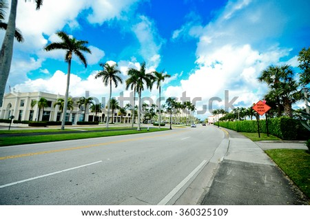 Street in a sea resort - stock photo