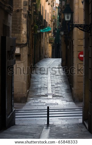 Street in Barcelona. - stock photo