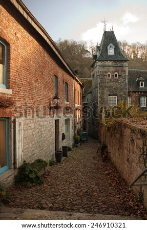 Street in Durbuy - stock photo