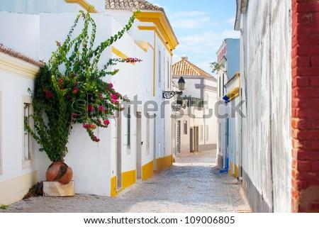 Street in Faro, Portugal. - stock photo