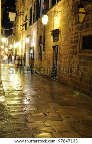 street in night - stock photo