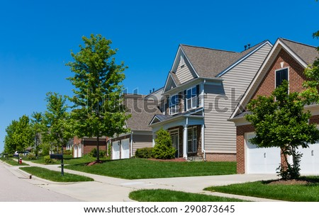 Street in North Carolina - stock photo
