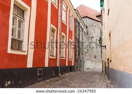 Street in old town. Tallinn, Estonia - stock photo