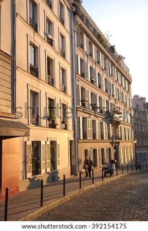Street in Paris, France - stock photo