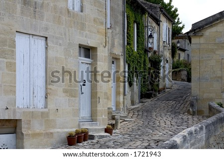 Street in Saint Emilion, Gironde, Aquitaine, France - stock photo