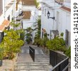 Street in Salobrena, Andalusia, Spain - stock photo