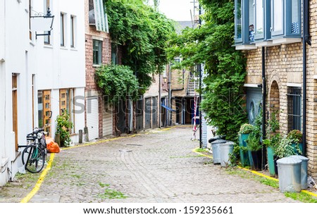 Street in the city - stock photo