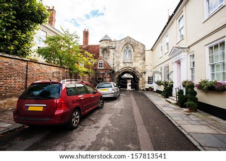 Street in the county - stock photo