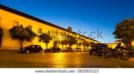 Street in the night - stock photo