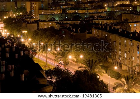 Street in the night city
