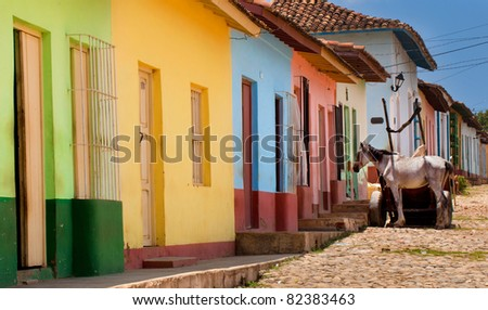 Street in Trinidad, Cuba - stock photo
