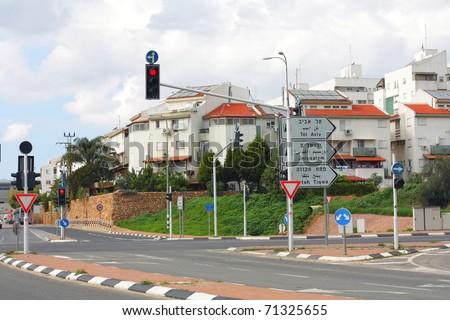 street Israeli - stock photo
