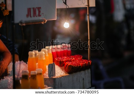 Street juice in Thailand.