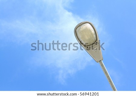 Street lamp and blue sky - stock photo
