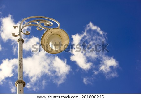 street lamp at the cloud/street lamp - stock photo