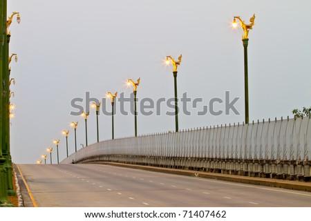 Street lamp evening. - stock photo