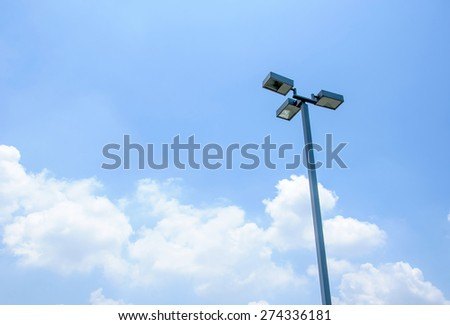 Street lamps sky background