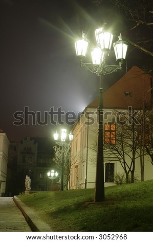 street lantern in Brno - stock photo