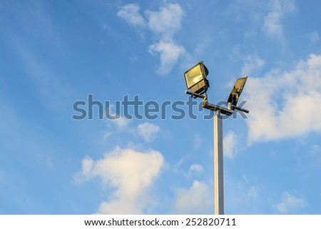 Street light and sky background
