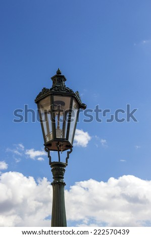 Street light on sky background - stock photo