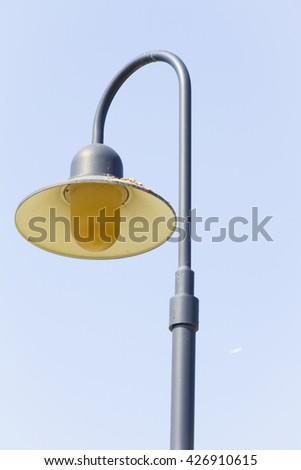 Street light with halogen lamp - stock photo
