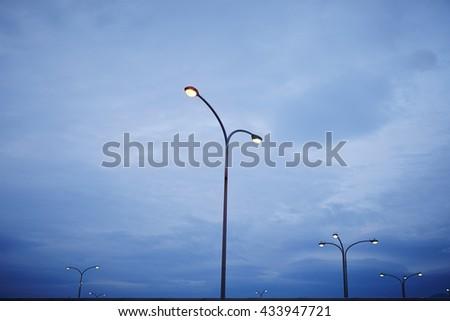 Street lights - stock photo