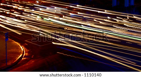 Street Lights and Sign - stock photo