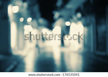 Street lights bokeh background. - stock photo