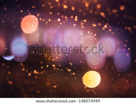 Street Lights Out Of Focus - stock photo