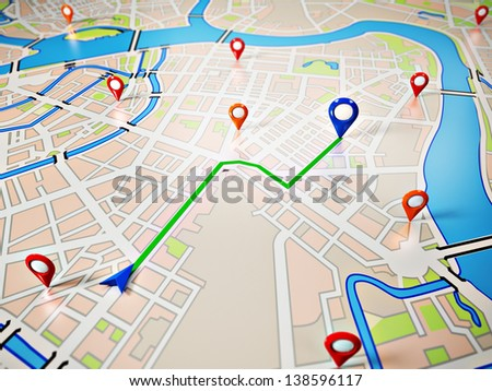 street map gps icons navigation stock illustration