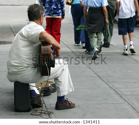 Street Musician - stock photo