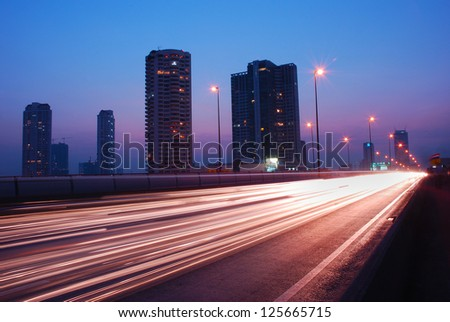 Street night in Bangkok - stock photo