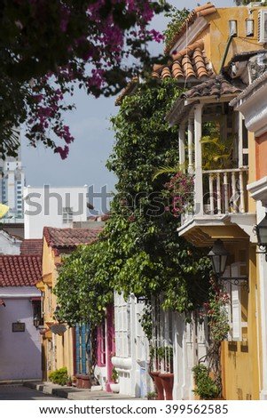Street of Cartagena de Indias