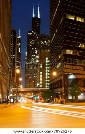 Street of Chicago - stock photo