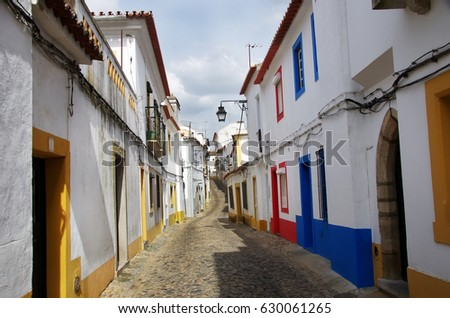 street of the city of Evora - Alentejo, Portugal