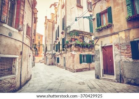 Street of Venice - stock photo