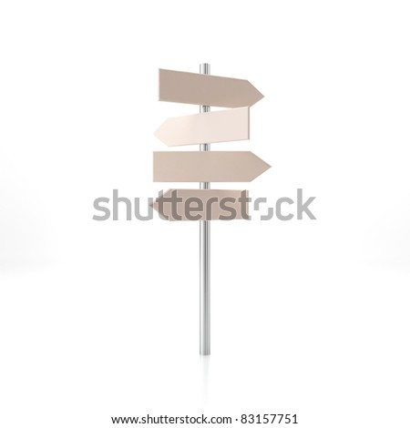 Street pointer. 3d render illustration - stock photo