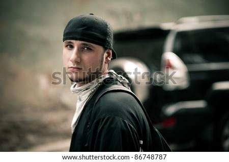 street portrait - stock photo