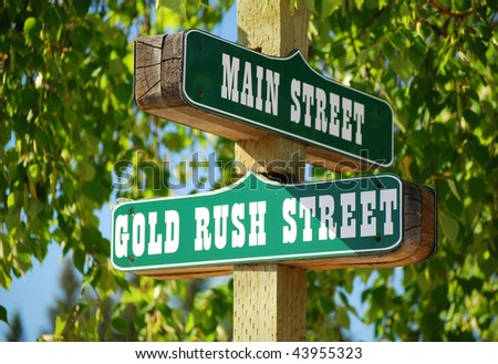 Street post with signs - stock photo
