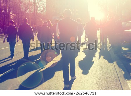 Street protest - stock photo