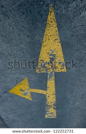 street, road, arrow direction - stock photo