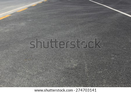 Street road asphalt blank surface with separation lines - stock photo