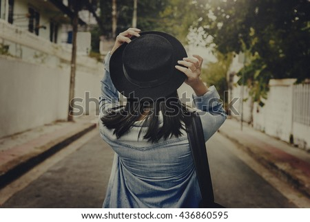 Street Road Leisure Traveler Destination Style Concept - stock photo