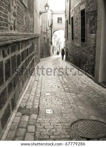 Street Scene, Spain - stock photo