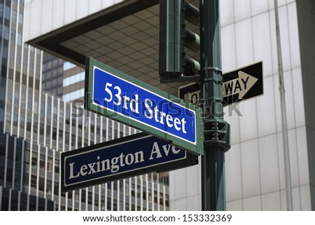 Street sign in new york