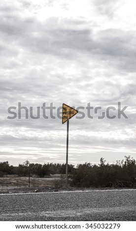 Street Sign in the dessert - stock photo