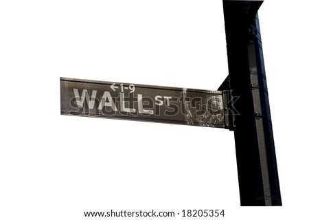 Street sign isolated on white - stock photo
