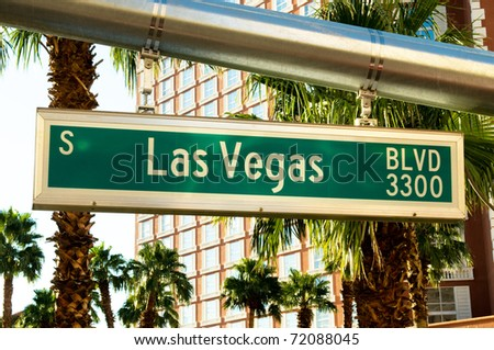 Street sign of Las vegas Boulevard - stock photo