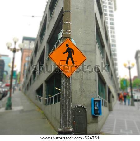 Street Sign on Corner - stock photo